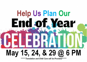 Help us plan our end of year celebration.