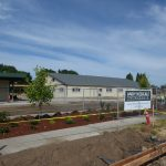 Lafayette modular, parking lot and landscaping